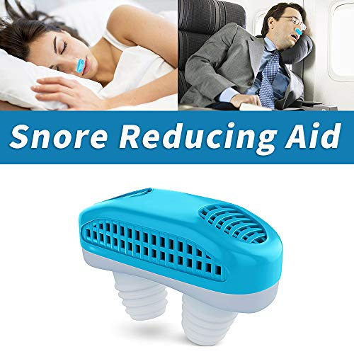 2 in 1 Anti Snoring Device, Snore Stopper and Silicone Nose Clip Sleeping Breath Aids, Nose Vents Plugs with Air Purifier for Comfortable Sleep