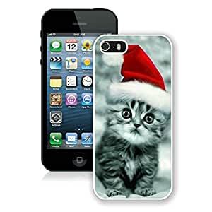 Diy Iphone 5S Protective Cover Case Christmas Cat iPhone 5 5S TPU Case 32 White