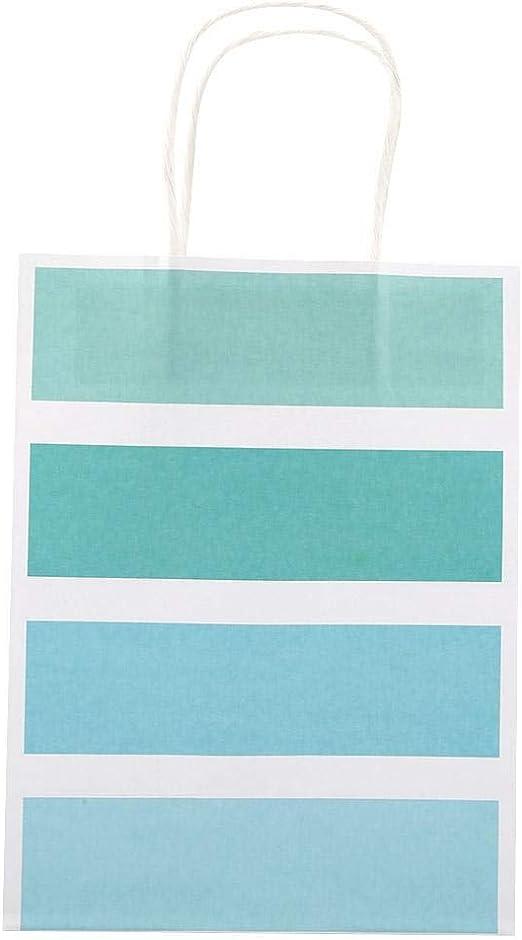 Verde 25 PCS Sacchetto Regalo Durevole Carta Kraft per Shopping Bag di Festa con Bomboniera E Manico