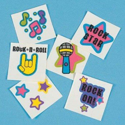 Rock Star Glitter Tattoos (72) ()