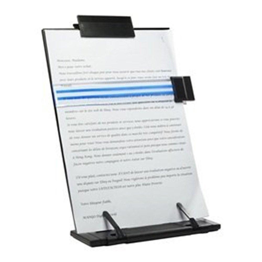 Lenhart portadocumenti da scrivania in metallo, colore: nero con supporto regolabile a 7 posizioni