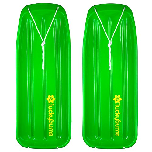 Lucky Bums Snow Kids Toboggan Sled, 48-inch, 2- Pack (Green)