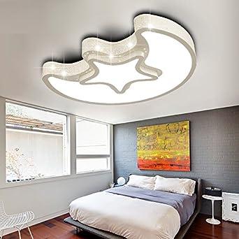 Elegant WoOnew Weiße Runde Deckenleuchte Kinderzimmer Wohnzimmer Einfach U0026 Modern  Home Ideen Schlafzimmer Auge Leuchten, 45