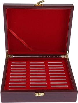 Sharplace Caja Decorativa para Monedas De Madera, Caja De Baratijas, Cofre De Almacenamiento para Medalla, Caja De Madera para Monedas Varias, Contenedor Antigu: Amazon.es: Juguetes y juegos