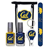 University of California Berkeley Golden Bears Manicure Pedicure Set with 7-Inch Nail File, Nail Clippers, 2 Nail Polishes in Team Colors, and Toiletry Bag NCAA Gifts and Gear for Women