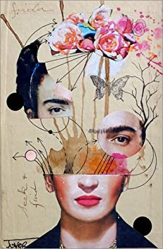 Posterlounge Acrylic print 20 x 30 cm: frida for beginners by Loui Jover