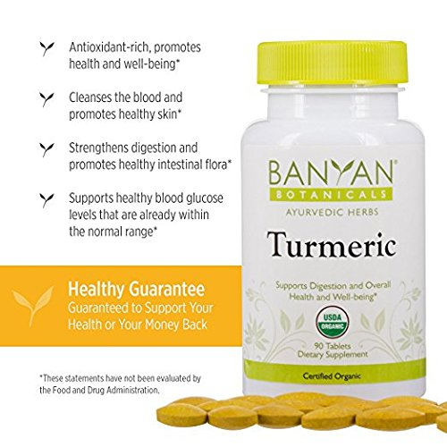 51TnGnyko9L - Banyan Botanicals Turmeric Tablet Supplement, USDA Organic, 90 count - Supports Digestion, Overall Health and Well-being