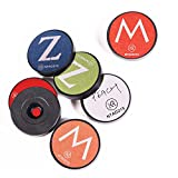 KR-NET 20x 1 inch (25mm) Black NFC Tag NTAG215 Round token coin + Writable Decal, Compatible with TagMo, NFC enable device: Gaming Console, Android Phones [20 Tokens + 24 Decals]