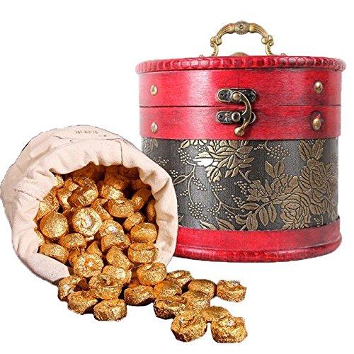 Dian Mai New Year's Pu'er New Year's Eve Red Lozenges Cooked Yunnan Pu'er Tea Cooked Tea Mini Clam Tea 700g Peeled 滇迈陈年新普洱 重瓣红玫瑰熟沱 云南普洱茶熟茶 迷你小沱茶叶700克皮桶装