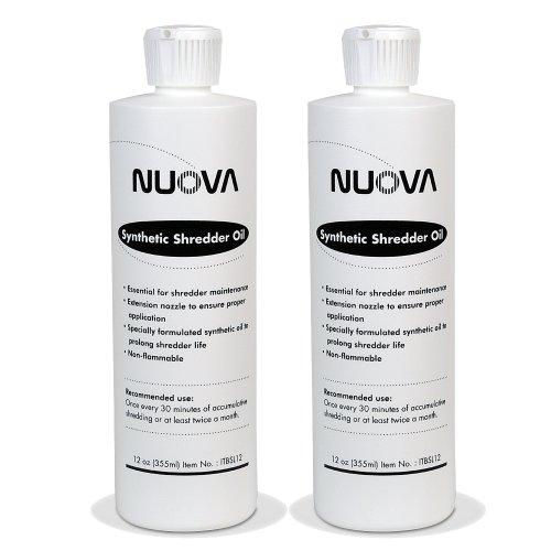 2-Bottle Nuova SYNTHETIC Paper Shredder Oil, 12 Oz. Bottle with Flip Top Cap