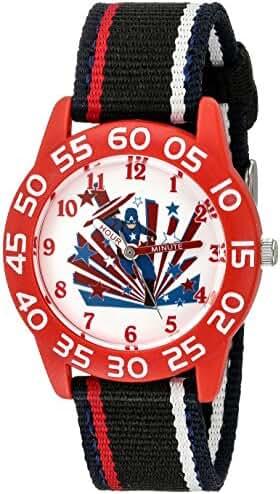 Marvel Boy's 'Civil War' Quartz Plastic and Nylon  Watch, Color:Black (Model: W003121)