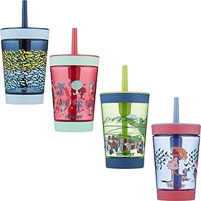 Contigo Spill-Proof Kids Tritan Straw Tumbler, 14 oz, Sprinkles Pink