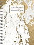 img - for 2018 Gold Marble Daily Weekly Monthly Planner, 16 Month Agenda: Sept. 2017 - Dec. 2018 book / textbook / text book