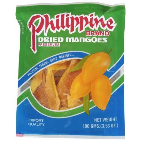 芒果乾Philippine Brand Dried Mangoes, 3.53-Ounce Bags x (pack of 3)