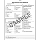 Illinois School Bus Driver Vehicle Inspection Report NCR - Book Format (Qty: 20 Units)