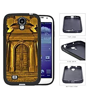 Chateau Gold Castle Door Rubber Silicone TPU Cell Phone Case Samsung Galaxy S4 SIV I9500