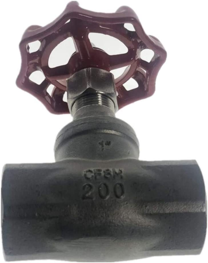 CHENTAOMAYAN Female DN15-DN50 Globe Valve Stainless Steel SS304 CF8M Heavy Duty Max 200Psi 350 Degrees Specification : DN15