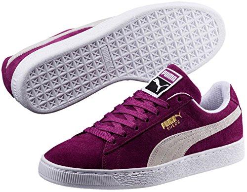 ... Puma Suede Klassisk Sneaker Drue Kiss-puma Hvit