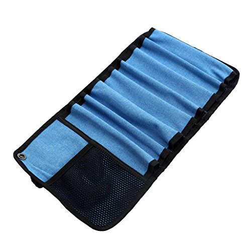Durable Roll up Bag for 8pcs Ice Screws Protection Storage Case & Organize Ice Climbing Equipment Accessories
