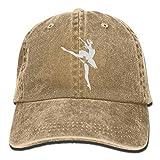 Unisex Baseball Cap Yarn-Dyed Denim Hat Dancer Adjustable Snapback Topee