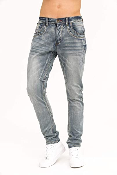 trueprodigy Casual Hombre marca Jeans Pantalon elastica ropa retro vintage rock vestir moda deportivo vaquero slim fit designer cool urban fashion tejanos ...