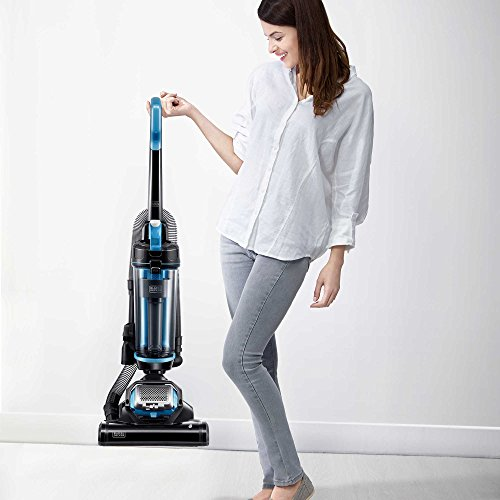 BLACK+DECKER AirSwivel Lite Upright Vacuum Cleaner in Grey/B