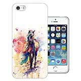 003565 - Fantasy Colourful Horse Painting Design iphone SE / iphone 5 5S Fashion Trend CASE Gel Silicone All Edges Protection Case Cover