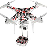 MightySkins Protective Vinyl Skin Decal for DJI Phantom 3 Professional Quadcopter Drone wrap cover sticker skins Retro Controllers 3