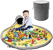 PYFK Toy Storage Bag, Toy Organization and Storage Container, Storage Basket Box with Drawstring, Large Indoor