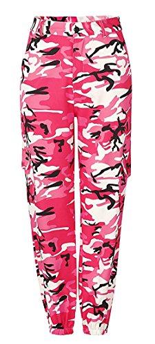 Sportivi Sciolto Training Moda Giovane Eleganti Pantaloni Esercito Militari Trousers Tuta Pantaloni Vintage Ragazza Sportivi Pantaloni High Abbigliamento Rot Chic Donna Palestra Waist Pantaloni 6wHqtw
