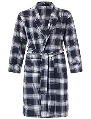 Latuza Men's Cotton Flannel Robe
