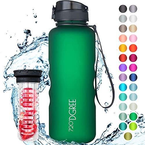 """720°DGREE Trinkflasche """"uberBottle"""" +Früchtebehälter - 1,5L - BPA-Frei - Wasserflasche für Sport, Fitness, Outdoor, Wandern - Große Sportflasche aus Tritan - Leicht, Bruchsicher, Nachhaltig"""