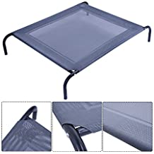 New Large Dog Cat Bed Elevated Pet Cot Indoor Outdoor Camping Steel Frame Mat Trending