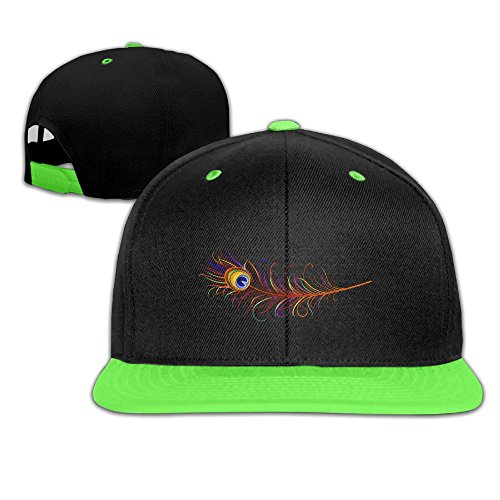Qiop Nee Kid's Hip Hop Baseball Cap and Hats Boy Girls Pretty Peacock Feather Pattern