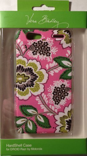 - Vera Bradley Priscilla Pink Hardshell Snap-on Case Cover For Motorola Droid RAZR