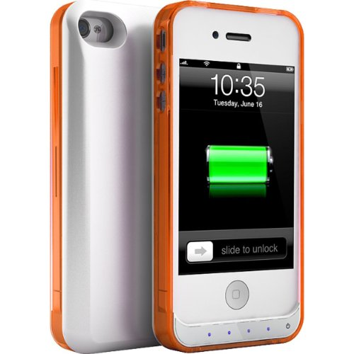 UNU DX Lite 1500mAh Battery Pack with Removable Bumper - Retail Packaging - White/Orange