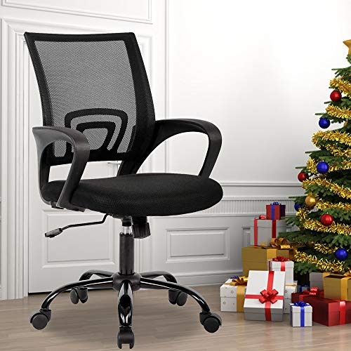 Best Home Product Executive Mesh Office Chair Ergonomic Desk Chair Height-Adjustable Task Rolling Swivel Chair Comfortable Seat & Back Support Computer Chair with 360 Degree Casters & Armrest
