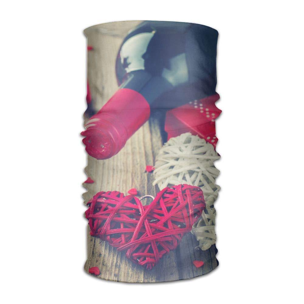 Chenhc Headbands Headwear Romantic Love Hearts Bandana Sweatband Neck Gaiter Head Wrap Outdoor Mask