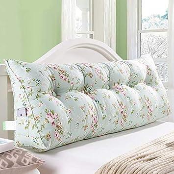 Goldenla Bedside Triangle Pillow Sofa Gro/ße R/ückseite Double Single Cotton Bett Kissen Cotton Triangle Cushion Color : A, Size : 60x23x45cm