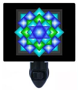 Jewish Night Light - Star Quilt - LED NIGHT LIGHT