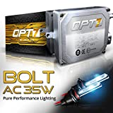 OPT7 Bolt 35w AC 9006 HID Kit - 4x Brighter - 6x Longer Life - All Bulb Sizes and Colors - 2 Yr Warranty - [8000K Ice Blue Xenon Light]