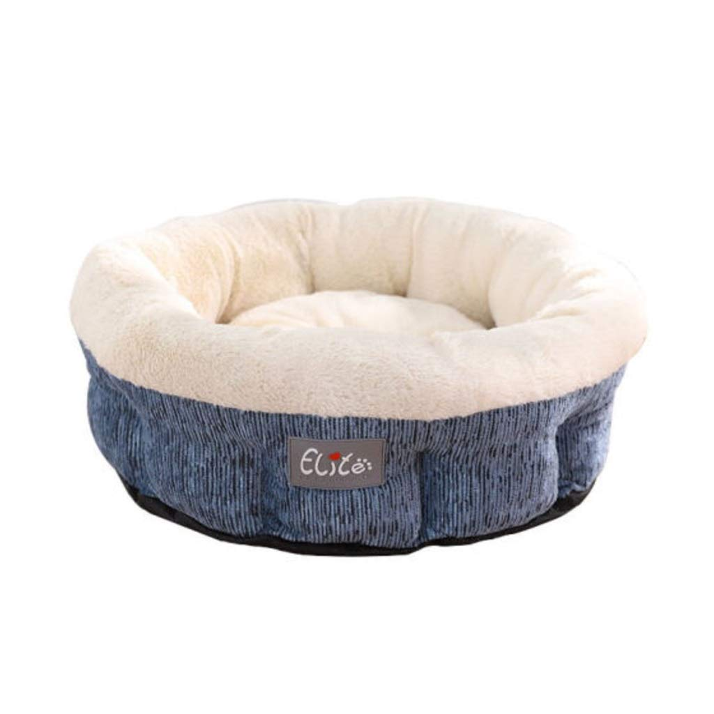 L Premium bluee Deluxe Pet Bed for Cats or Small Dogs,Ultra Soft & Durable Pet Bed for Cats and Dogs and Breathable Pet Bed Premium (Size   L)