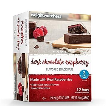 Amazon Com Weight Watchers Dark Chocolate Raspberry Mini Bar