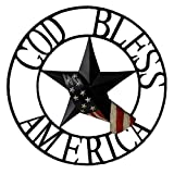 BACKYARD EXPRESSIONS PATIO · HOME · GARDEN 906783 God Bless American Wheel, Multi