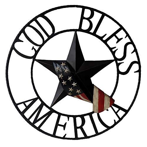 (BACKYARD EXPRESSIONS PATIO · HOME · GARDEN 906783 God Bless American Wheel, Multi )