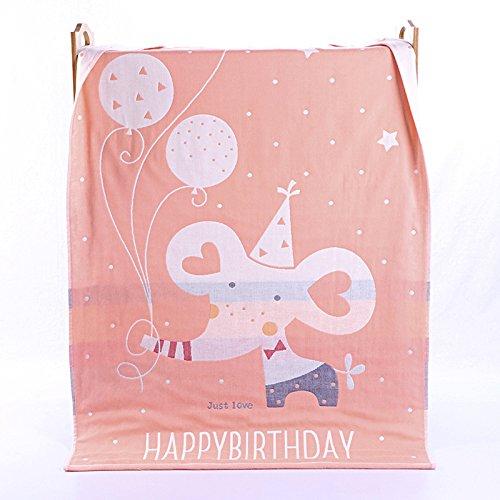 PENG Kids Bath/Beach/Pool Towel Girls Boys Cute Cartoon Animal Full Vitality,100% Cotton(Balloon elephant orange)