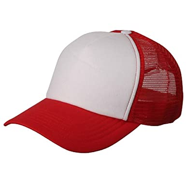 Image Unavailable. Image not available for. Color  Cotton Trucker Cap-Red  White W39S56C 9e96f8e5bf4