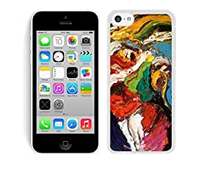 Special Silicone Phone Cases for Iphone 5c Abstract Painting Soft TPU Cell Phone White Cover