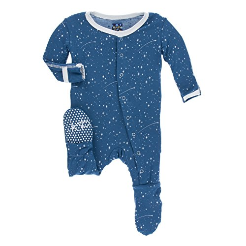 - KicKee Pants Unisex Baby Footie with Snaps, Twilight Starry Sky, 18-24M