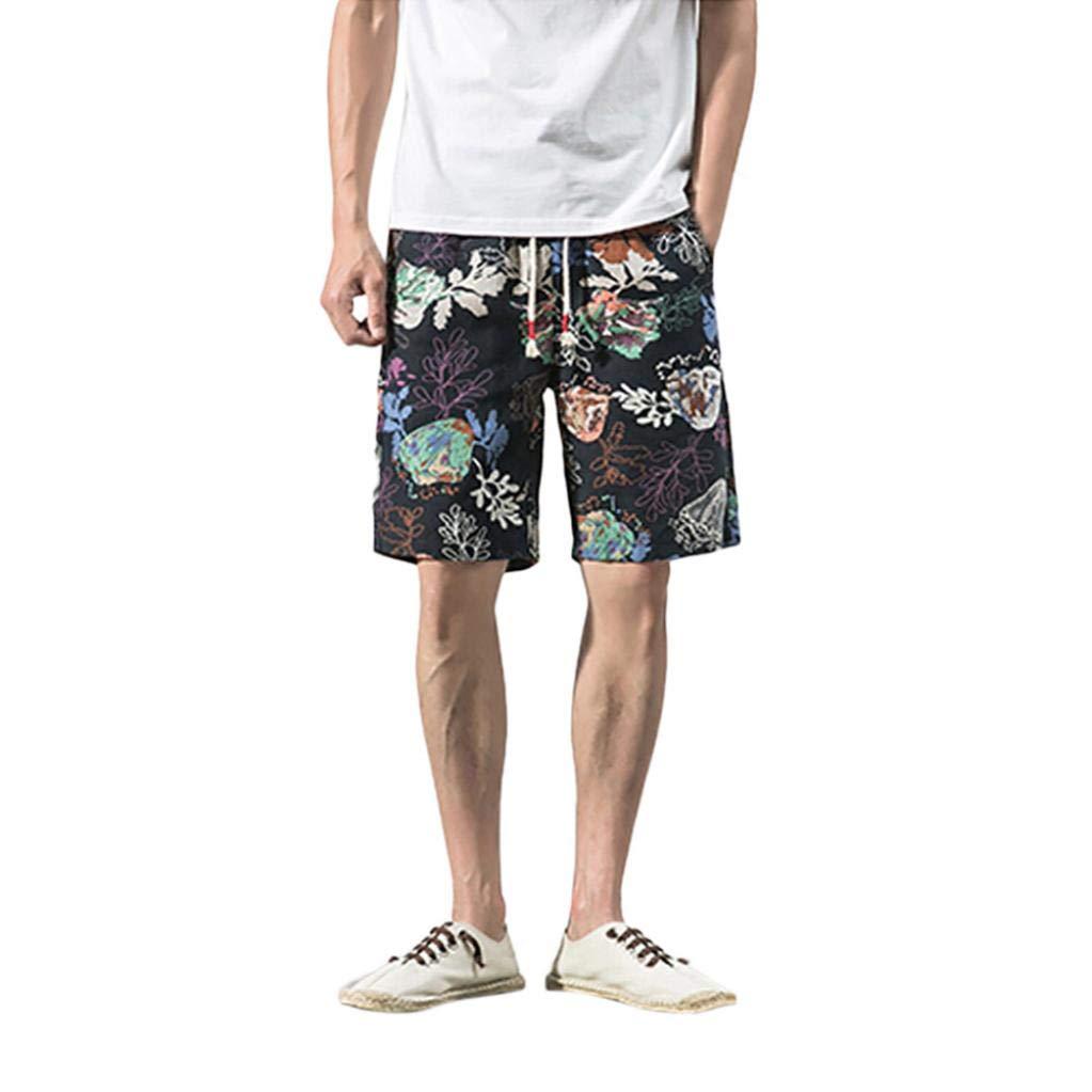 Naturazy BañAdor para Hombre Swim Trunks Estampado De Floral Rectos Pantalones Cortos Verano Ropa De Gimnasio Ropa Sport Chandal Corto Hombre: Amazon.es: ...